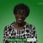 Maria Milton, Midwife